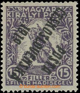 212573 -  Pof.97Pp, 15f fialová, převrácený přetisk, II. typ; po