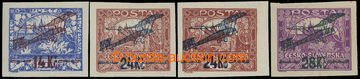 212583 -  Pof.L1-3, I. provisional air mail stmp., complete set imper