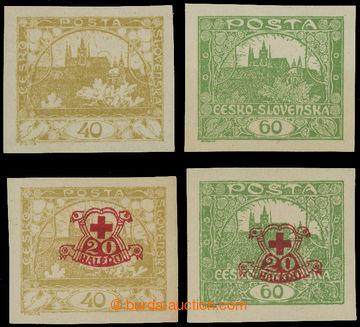 212590 -  Pof.170-171Na+Nc, 40h žlutá a 60h zelená, sestava 4ks nevyd