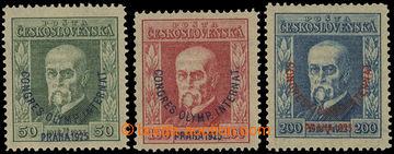 212602 - 1925 Pof.180-182, Kongres 50h-200h; svěží a zk. Gi