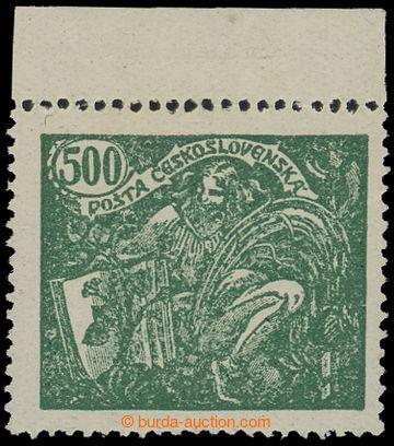 212606 -  Pof.168B, 500h zelená s horním okrajem, HZ 13¾ : 13