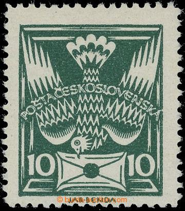 212645 -  Pof.145B, 10h tmavě zelená, ŘZ 13¾; svěží, zk. Gi, K