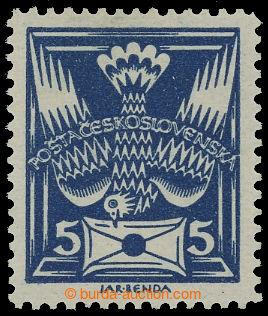212648 -  Pof.143B, 5h modrá s ŘZ 13¾; lehká stopa po nálepce, z