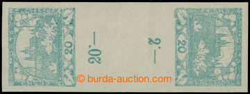 212651 -  Pof.8Mp(2), 20h modrozelená, protisměrné svislé 2-zn. m