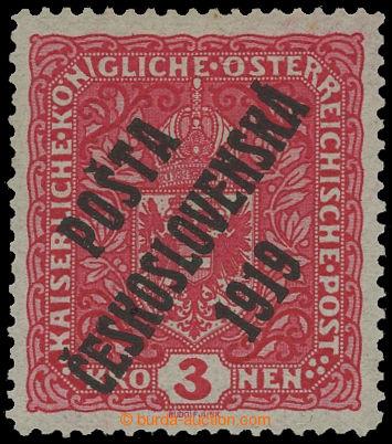 212655 -  Pof.49II, Znak 3K světle červená, široký formát, I. typ pře