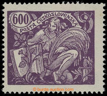 212656 -  Pof.169B, 600h fialová (tmavá) s HZ 13¾ : 13½; sv