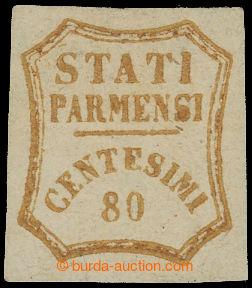212684 - 1859 GOVERNO PROVVISORIO / Sass.18, Číslice 80Cts bistro o