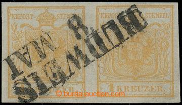 212689 - 1850 Ferch.1HIa, 2-páska Znak 1Kr okrově oranžová, Ia ty