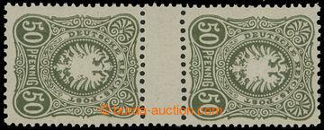212707 - 1880 Mi.44IIbZS, MEZIARŠÍ Číslice 50Pfg tmavě olivová; zk. Z