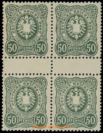 212708 - 1880 Mi.44IIbaZS, MEZIARŠÍ Číslice 50Pfg tmavě zelenoolivová