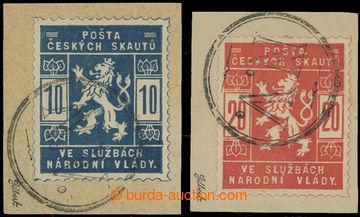 212727 -  Pof.SK1a, SK2a, 10h světle modrá a 20h světle červená,