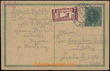 212738 - 1918 CPŘ3, rakouská souběžná dopisnice 8h Karel dofr. rakous