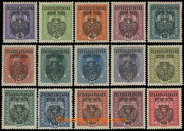 212742 -  Pof.RV22-36, Pražský přetisk II (velký znak), 3h-1K, se