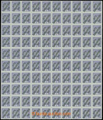 212743 -  Pof.33 ST, Koruna 3h fialová, kompletní 100ks PA TD 1a - 4x