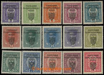 212744 -  Pof.RV1-15, Pražský přetisk I (malý znak), 3h-1K, sesta