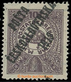 212776 -  NEVYDANÁ  zn. pro Poštovní spořitelnu 10f, II. typ přetisku