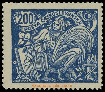 212786 -  Pof.174A, 200h modrá, III. typ s ŘZ 13¾; svěží