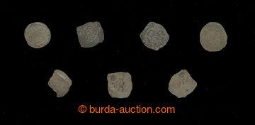 212829 -  ČESKÉ KRÁLOVSTVÍ sestava 7ks různých středověkých mincí; rů