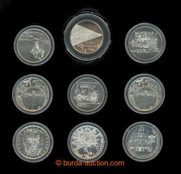 212832 - 1993-1997 [SBÍRKY]  sestava 9ks pamětních mincí 200Kč, 1993,
