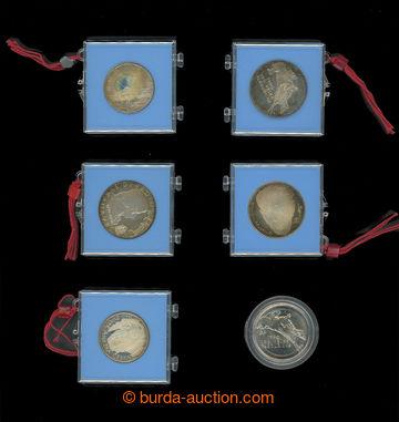 212833 - 1990-1991 [SBÍRKY] sestava 6ks pamětních mincí 50Kčs a 100Kč