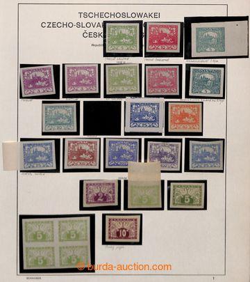 212839 - 1919-1939 [SBÍRKY]  zajímavá rozpracovaná sbírka na lis