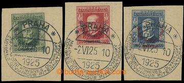 212850 - 1925 Pof.180-182, Kongres, kompletní série na ústřižcích s P