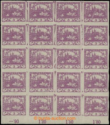 212865 -  Pof.2 VV, 3h fialová, krajový 16-blok s šikmými složkami pa