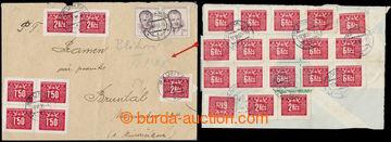 212926 - 1953 1. DEN / dopis vyplacený zn. Pof.485 (2x) v hodnotě 3