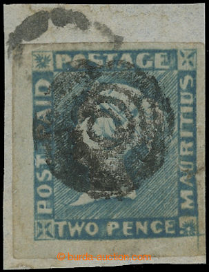 212930 - 1848-1859 SG.15, POST PAID TWO PENCE BLUE - light blue, pozd