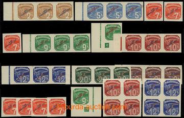 213052 - 1939 Sy.NV1-8, Novinové s přetiskem, hodnoty 2h-50h, sesta