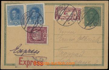 213083 - 1919 CPŘ3, souběžná rakouská dopisnice Karel 8h zaslan�