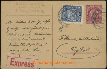 213085 - 1918 CPŘ5, souběžná rakouská dopisnice Koruna 10h červ