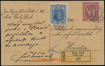 213086 - 1918 CPŘ5, souběžná rakouská dopisnice Koruna 10h červ