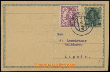 213112 - 1919 Maxa L26, přetisková dopisnice Velký monogram na rak