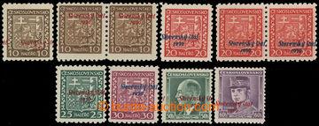 213155 - 1939 Sy.3-6, 8, 10 VPP, Znak 10h-30h (10h a 20h 2-pásky + s