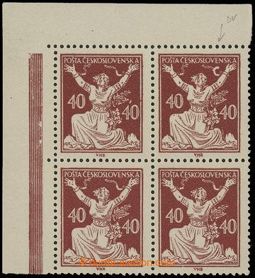 213181 -  Pof.154A DV, 40h hnědá, levý horní rohový 4-blok s HZ 14 a