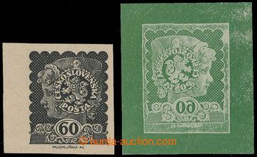 213182 - 1919 MUDRUŇKA Alois / nepřijatý návrh známky 60h Dívč