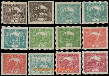 213195 -  Pof.1-9C, sestava 12ks zn. hodnot 1h-20h v různých odstínec