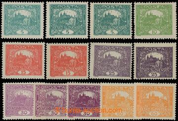 213198 -  Pof.4-17B, sestava 13ks zn. hodnot 5h-60h v různých odstíne