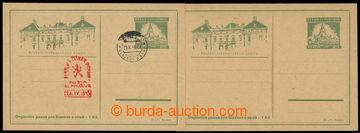 213218 - 1945 SLAVKOV  sestava 2ks dopisnic, 1x nepoužitá, 1x nepou
