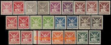 213226 -  Pof.151A-161A, sestava 24ks zn. hodnot 20h-250h, různé dost