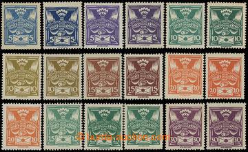 213227 -  Pof.143A-150A, sestava 18ks zn. hodnot 5h-30h, různé odstín