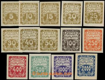 213252 - 1919 Pof.DL1-14, Ornament 5h-2000h, kompletní řada; vše s