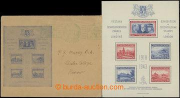 213296 - 1943 AS1, Londýnský aršík + původní obálka s otiskem