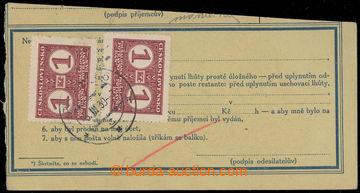 213298 - 1939 výstřižek balíkové průvodky s poplatkem za přepravu pot