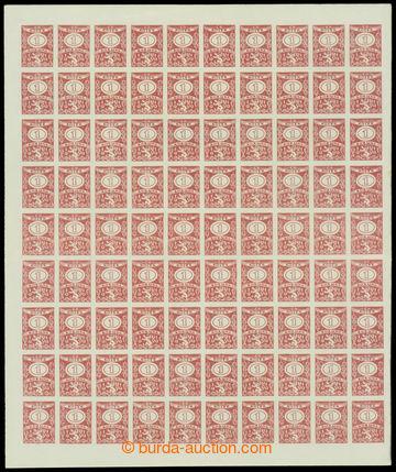213333 - 1919 ČSR I. /  kompletní 100-známkový arch s kolky 1 Kor