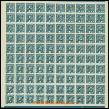 213334 -  ARCHOVINA /  Pof.62, Merkur vlevo 6h modrá, kompletní 100ks