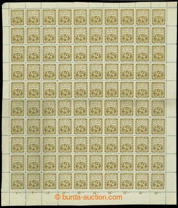 213338 - 1919 ARCHOVINA /  Pof.DL7, Ornament 40h hnědoolivová, komple
