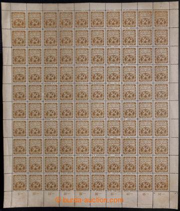 213340 - 1919 ARCHOVINA /  Pof.DL8, Ornament 50h hnědoolivová, komple