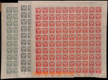 213343 - 1918 ARCHOVINA /  Pof.NV1-3, Sokol v letu 2h, 5h a 6h, sesta